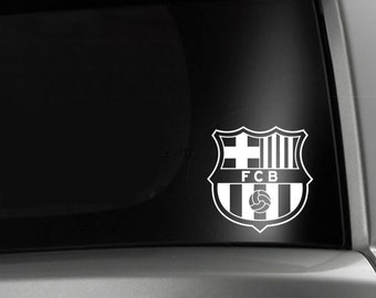 Barcelona Soccer FC Car Window Decal
