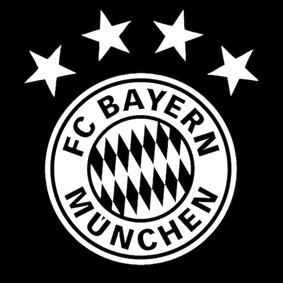 bayern munich logo black and white. Black Bedroom Furniture Sets. Home Design Ideas