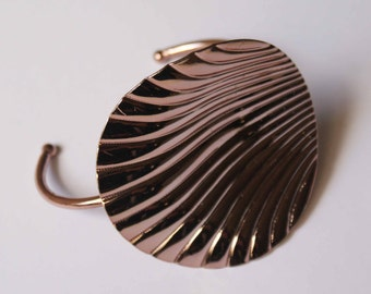 Rose gold filled shell cuff