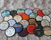 Set of 4 Vintage LP Record Coasters - Random Selection