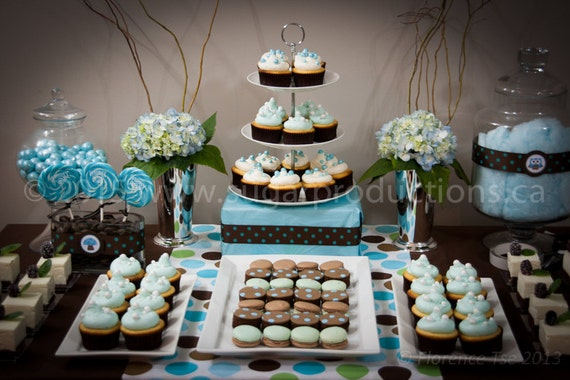 Dessert Table; includes cupcakes, cheesecakes, French Macarons and Brownies; Made to Order