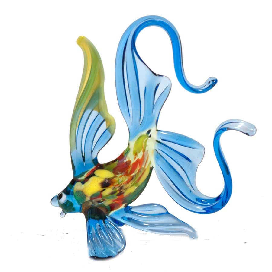 Glass fish hand blown collectible figurine code 250 for Blown glass fish