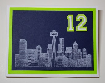 Seattle Seahawks 12th Man Greeting Cards | Buy Any 4 Cards, Get 1 FREE