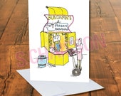 Bunana Stand Greeting Card with Blank inside and Envelope like Arrested Development Banana Stand