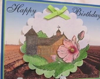 Farm Country Happy Birthday Card