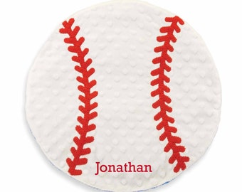 Personalized Baseball Blanket