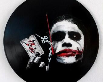Joker-Batman,hand painted vinyl record clock