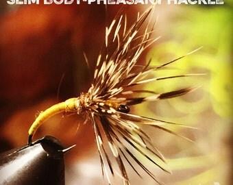 "Custom tied ""Tenkara style"" wet fly, 5pk, size 12, 14, or 16 klinkhammer hook, reverse hackle / sakasa kebari"