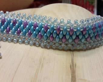 Easter super duo bracelet, bracelet, flexible, smooth,