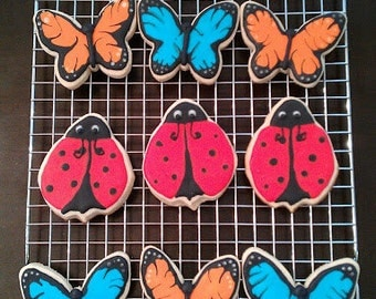 Butterfly and Ladybug Cookies