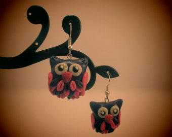 Fashion owl earrings