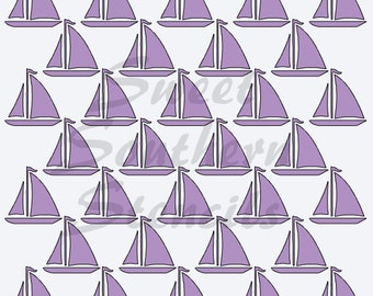 Sailboats Background Cookie Stencil