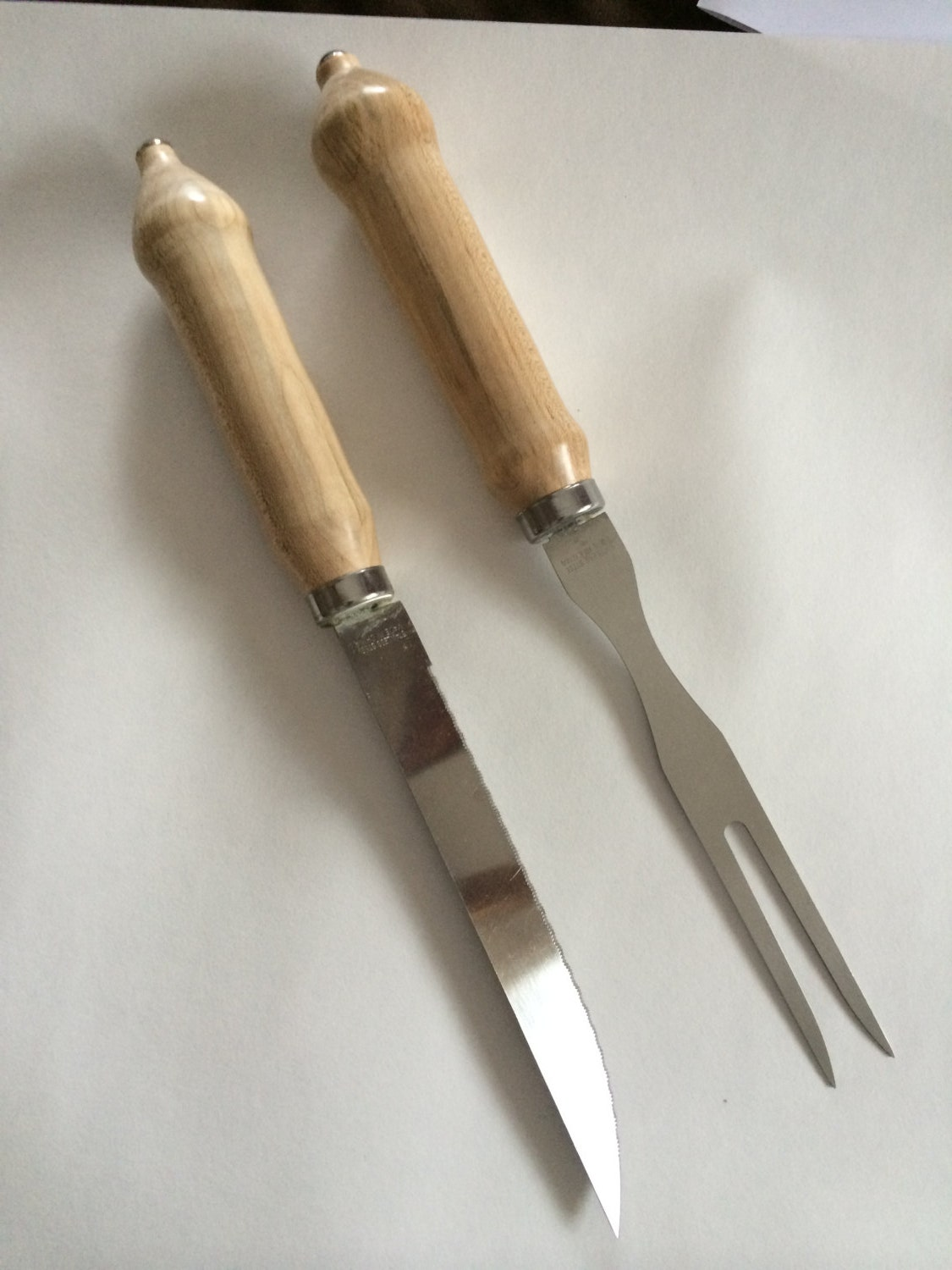 Carving knife and fork set by bolducwoodworking on etsy