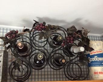 Wine rack with grape vine