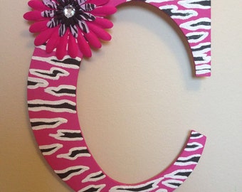 Pink Zebra print wall decor