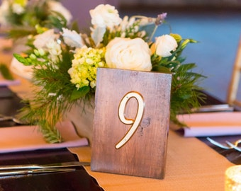 Rustic Handmade Table Numbers (Set of 11 or More)