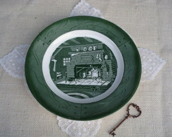 Vintage Colonial Homestead Plate by Royal China
