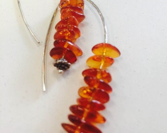 Amber Hook Earrings