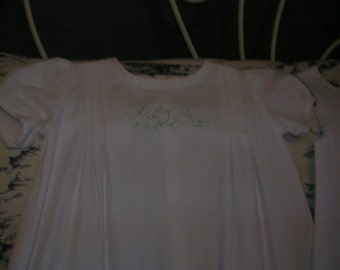 Organic Christening Gown and Slip