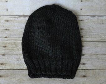 Slouchy Beanie - Charcoal Black (Teen)