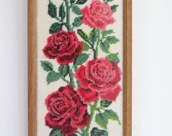 Framed rose tapestry