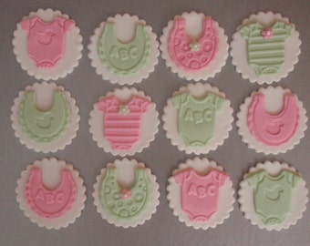 Fondant Cupcake Toppers Baby Shower Theme
