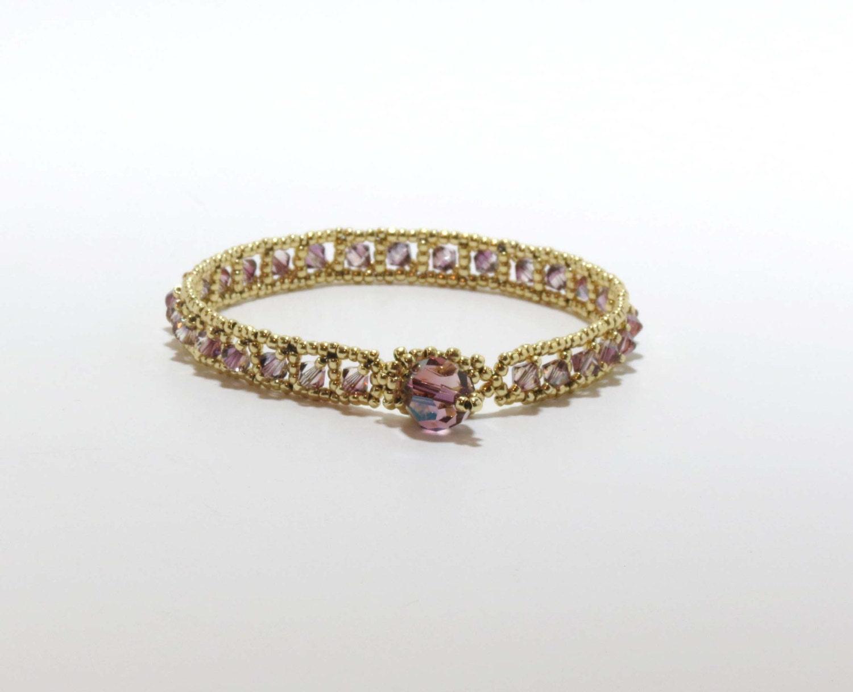 swarovski tennis bracelet crystal lilac by cinfulbeadcreations. Black Bedroom Furniture Sets. Home Design Ideas