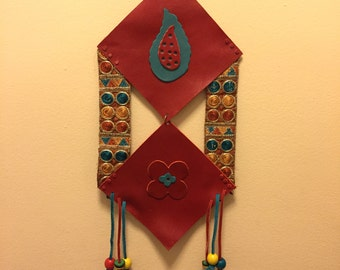 Handmade Leather Wall Hanging - Persian Style