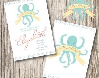 Nautical Octupus Invitation