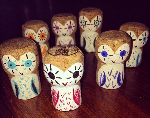 Champagne Cork Owls