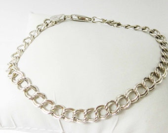 STERLING silver, loop chain bracelet