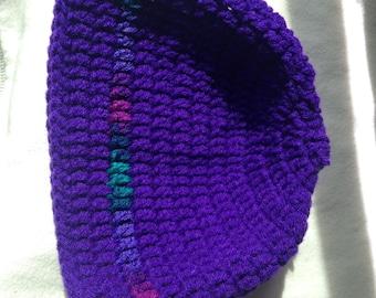 Multicolored Tee Purple Beanie