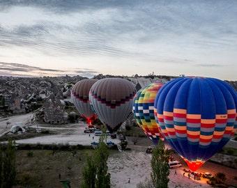 HOT AIR BALLON, Cappadocia, Turkey, Travel Photography, panaroma, adventure photo,