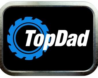 Top dad design 2oz silver tobacco tin,pill box,storage tin