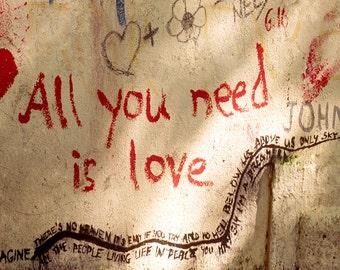 All You Need Is Love Photograph, Prague, Czech Republic,