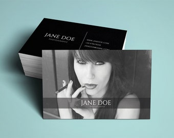 Photographer business card template, modern business card design custom photography instant download business card printable business