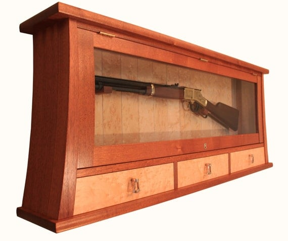 Custom Made Gun Display Case And Cabinet