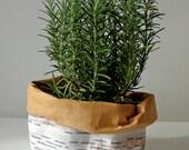 Waschbar Kraft Papier mittlere Aufbewahrungstasche mit Birke Rinde Muster, Pflanzer, normal, Eco, nachhaltige