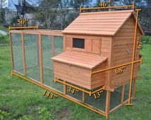 Ranch Backyard Chicken Coop - Good for 10 to 15 Chickens - Also Great Rabbit Run! FREE SHIPPING!