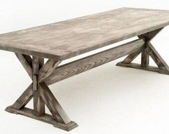 Contemporary Rustic Dining Table Design #3