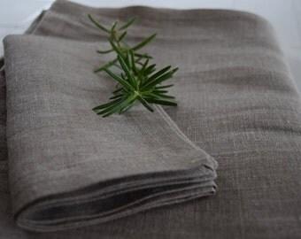 Natural linen tablecloth - Handmade