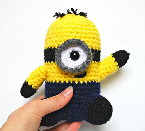 Amigurumi Minion Etsy : Items similar to Minion - Crochet Stuffed Toy (Amigurumi ...