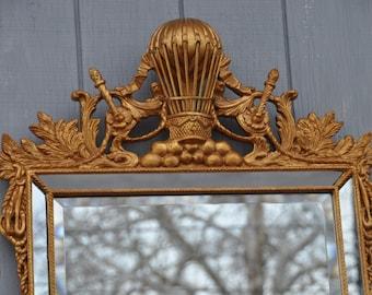 Mirror Fair Decorative Gilt Beveled Mirror Friedman Brothers Style