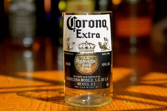 Upcycled corona beer bottle glasses for How to make corona glasses
