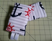 Navy and Red Anchors Baby Carrier Accessories
