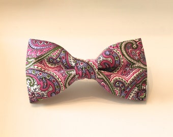 Purple Paisley Hair Bow