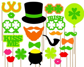 SALE St. Patrick's Day Photo Booth Props - Irish Photo Booth Props - St. Patrick's Day Photobooth - Printable St. Patrick's Day Party