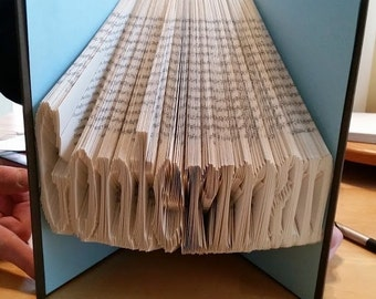 10 letters - folded book art