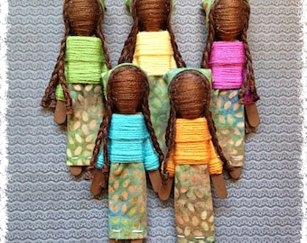 Worry Doll - African Pride Worry Doll