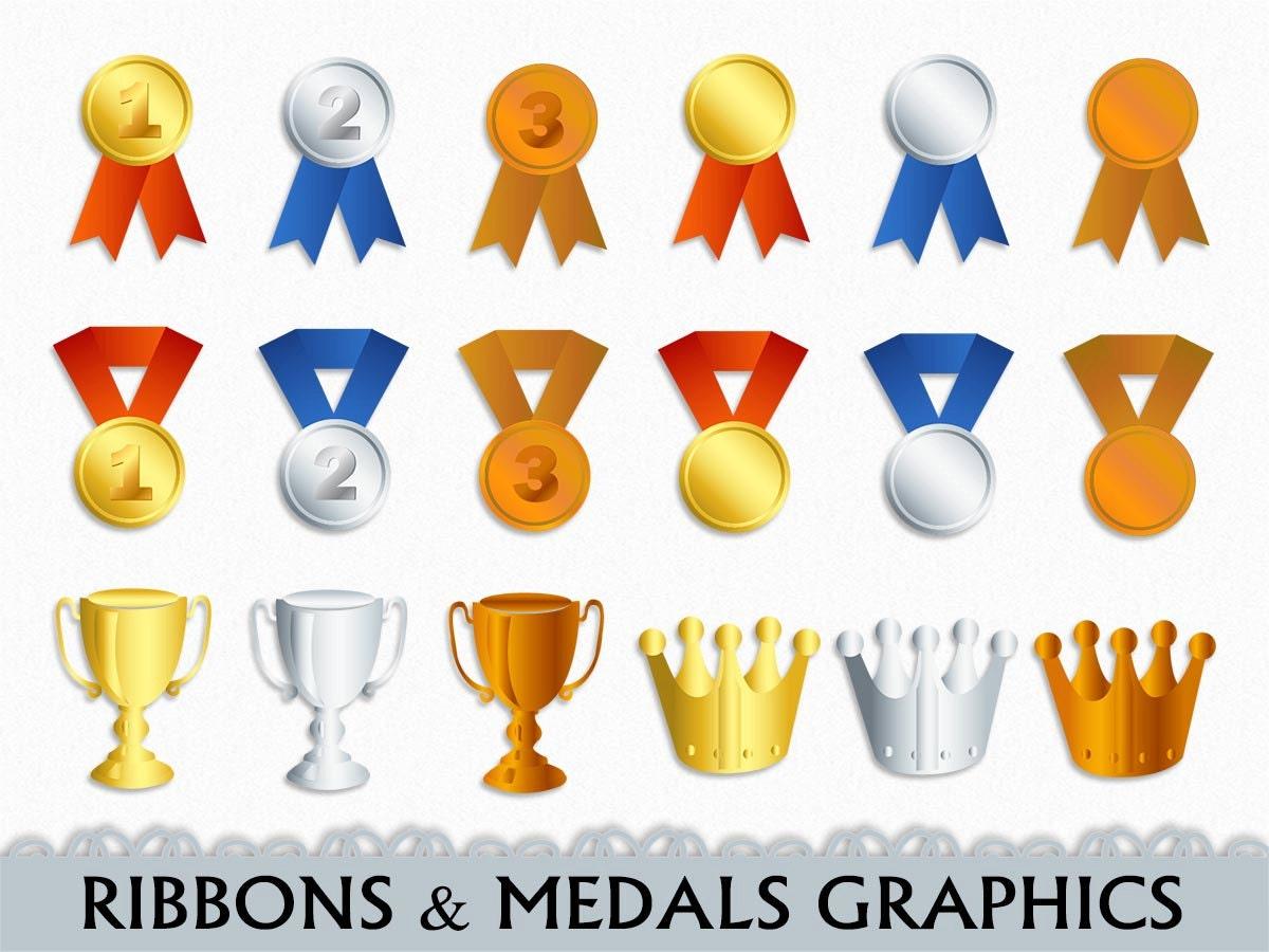 Medal clip art | Etsy